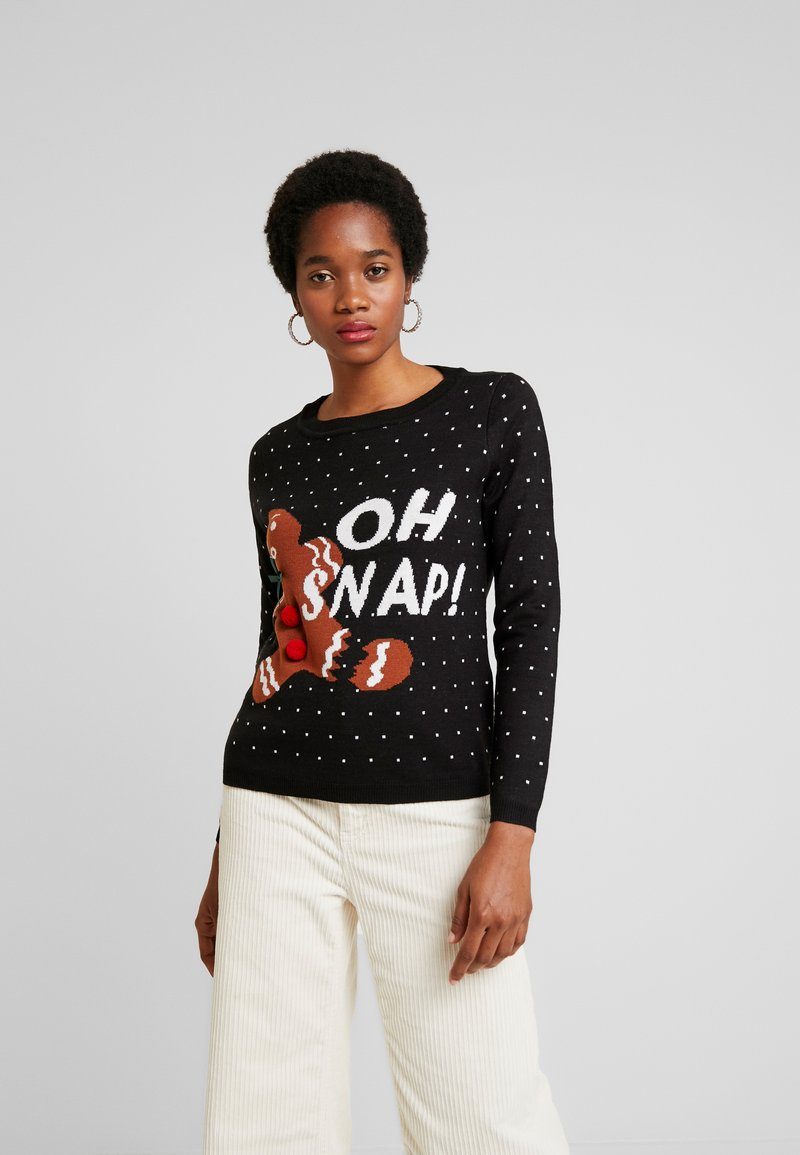 ONLY - ONLOHSNAP PULLOVER  - Jumper - black