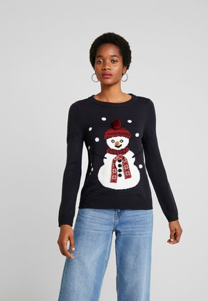 ONLSNOW - Pullover - night sky/snowman