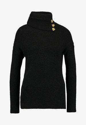 ONLKLARA COWLNECK - Stickad tröja - black