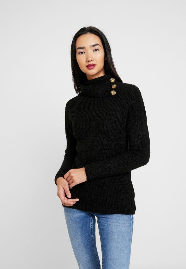 ONLKLARA COWLNECK - Jersey de punto - black