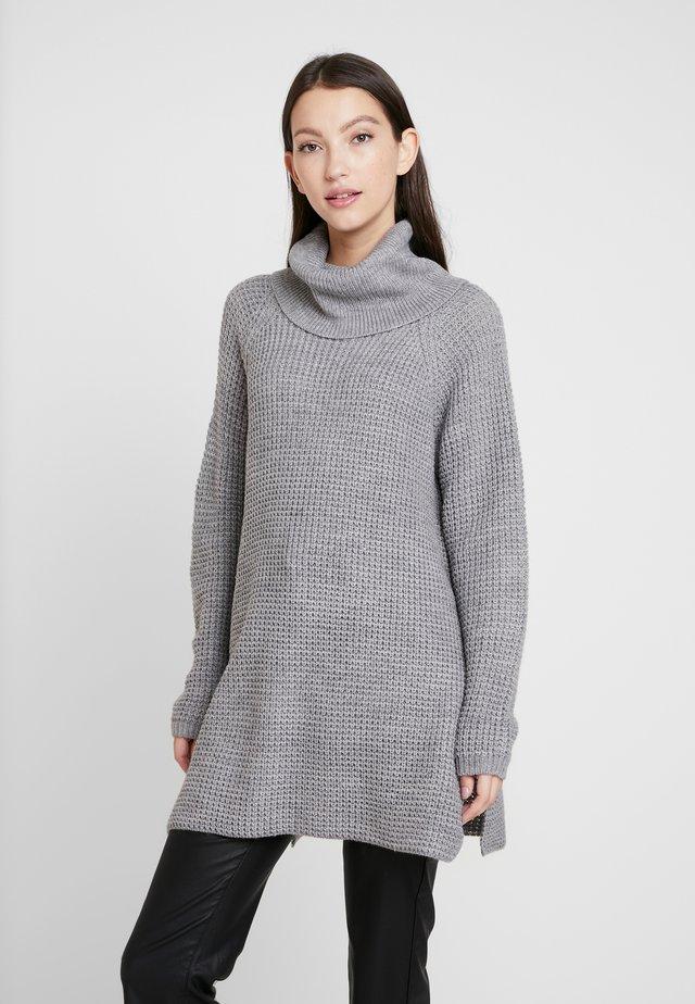 ONLCAMILLA LONG - Jersey de punto - medium grey melange