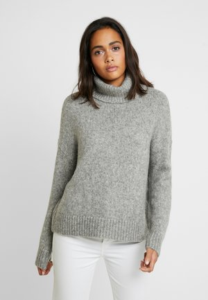 ONLNEW CHUNKY - Strikkegenser - medium grey melange