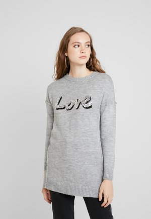 ONLLOVE PARIS  LONG - Neule - light grey melange