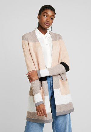 ONLRAMANA - Cardigan - medium grey melange/black/rose