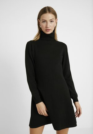 ONLJULIA DRESS - Strikket kjole - black
