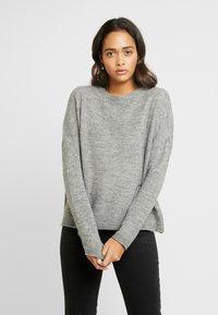 ONLY - ONLMIRNA STRIPE - Pullover - medium grey - 0