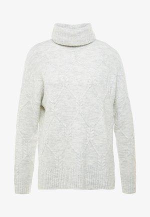 ONLLINELLA HIGHNECK - Strikpullover /Striktrøjer - white