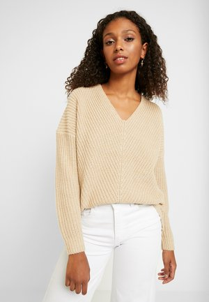 ONLCELTINA LONG - Strickpullover - pumice stone