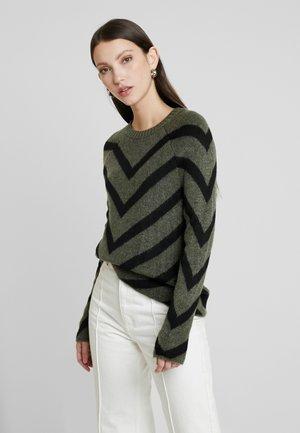 ONLELIZA  - Pullover - lizard/ black
