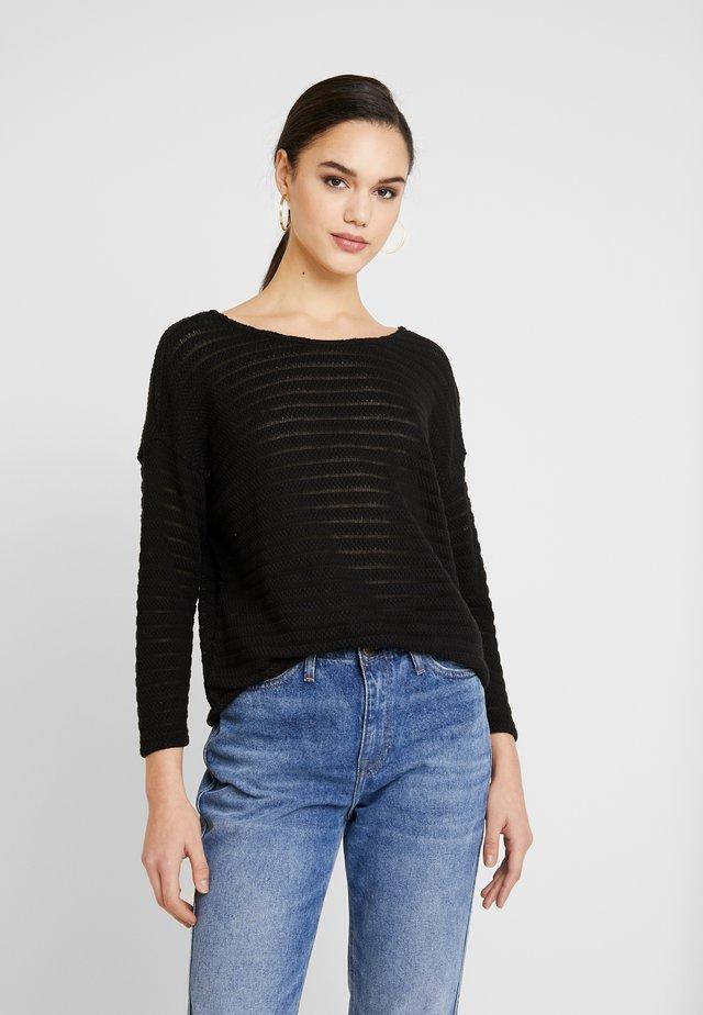 ONLASTER ELCOS - Pullover - black