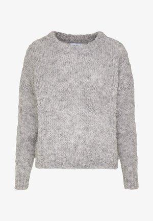 ONLFREPOP - Strikkegenser - light grey melange