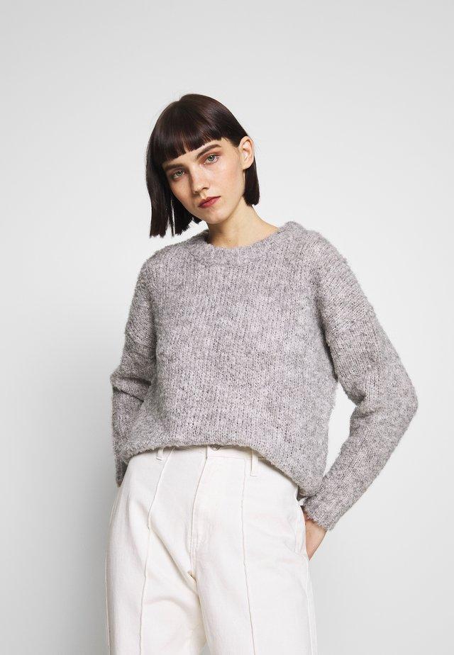 ONLFREPOP - Stickad tröja - light grey melange