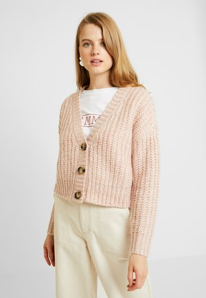 Strickjacke - rose smoke melange