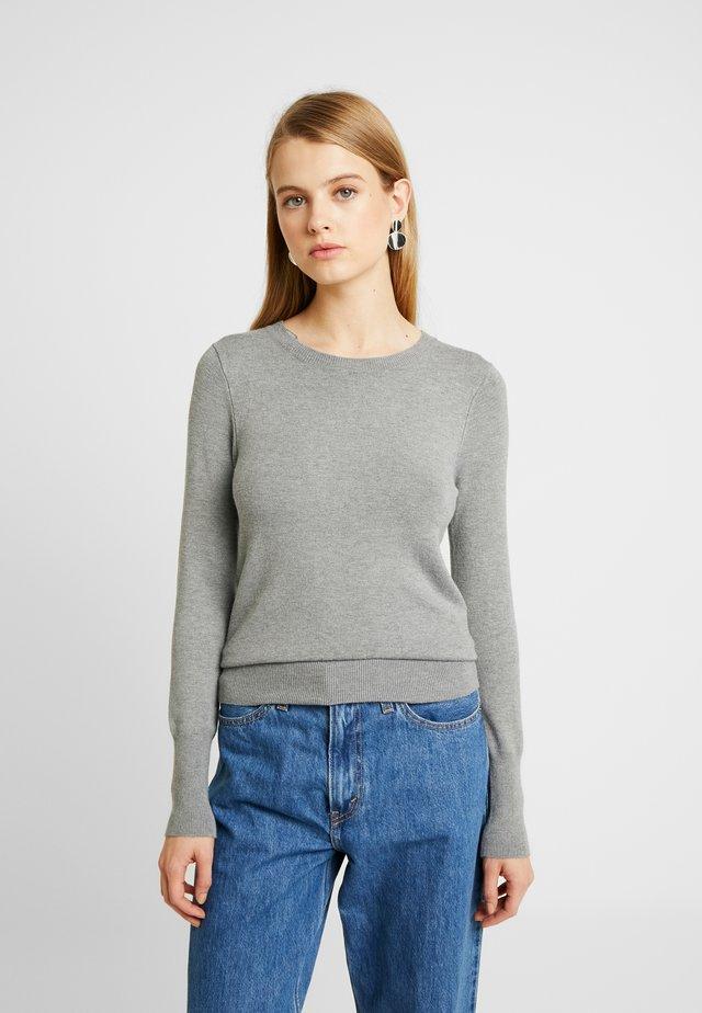 ONLVENICE O-NECK - Stickad tröja - medium grey melange