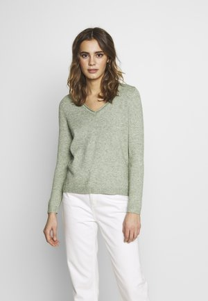 ONLLESLY NEW V-NECK - Jumper - basil/melange