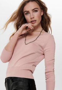 ONLY - ONLVENICE V NECK - Jumper - nude - 3
