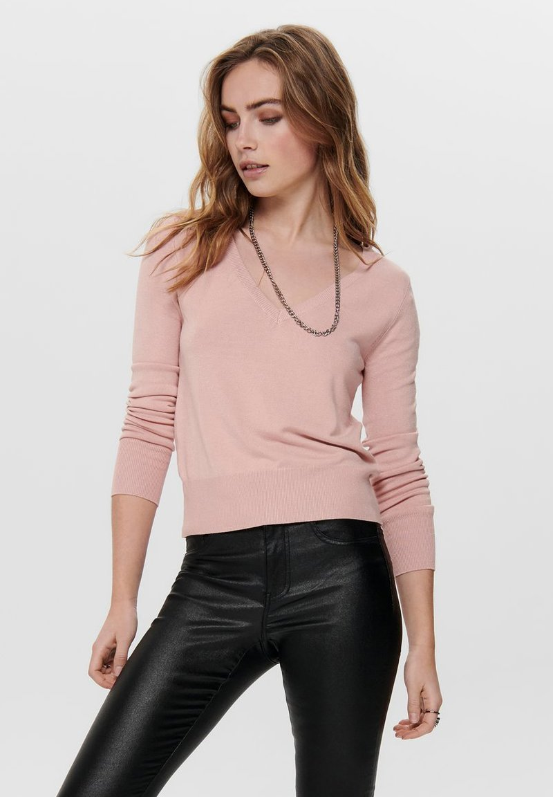 ONLY - ONLVENICE V NECK - Jumper - nude