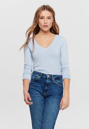 ONLVENICE V NECK - Pullover - blue
