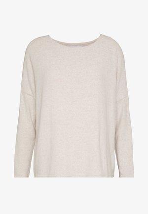 ONLMAYE O-NECK - Jersey de punto - hazelnut/white melange
