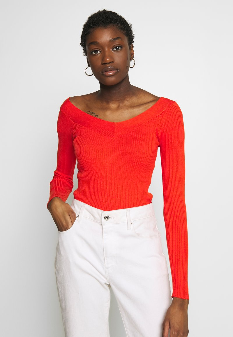 ONLY - ONLTANZIA NECK  - Jumper - spicy orange
