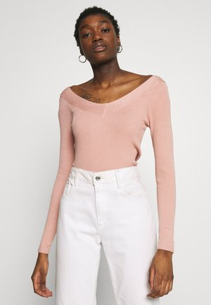 ONLTANZIA NECK  - Strickpullover - misty rose
