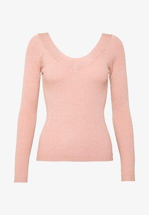 ONLTANZIA NECK  - Pullover - misty rose