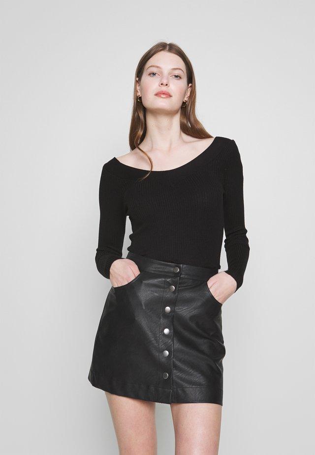 ONLTANZIA NECK  - Jersey de punto - black