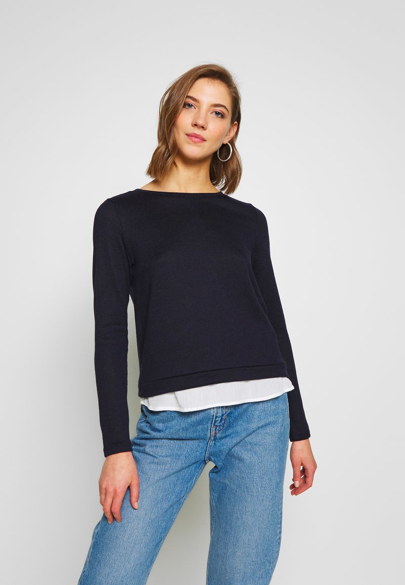 ONLY - ONLASHLEY PLACKET MIX - Strikkegenser - night sky
