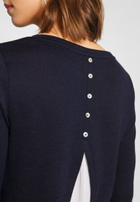 ONLY - ONLASHLEY PLACKET MIX - Strikkegenser - night sky - 4