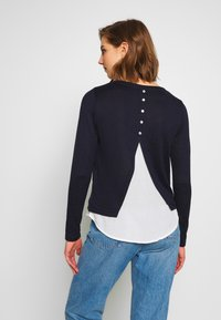 ONLY - ONLASHLEY PLACKET MIX - Strikkegenser - night sky - 2