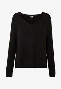 ONLY - ONLMISCHA V-NECK - Sweter - black - 4