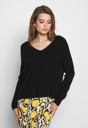 ONLMISCHA V-NECK - Jumper - black