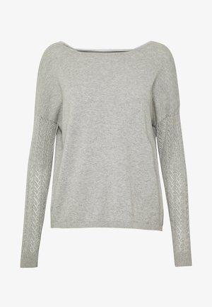ONLEDEN STRING - Strikkegenser - light grey