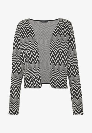 ONLVIGGA ZIGZAG CARDIGAN JRS - Cardigan - cloud dancer/zigzag black