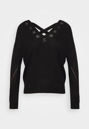 ONLADELE AJOUR VNECK - Jersey de punto - black
