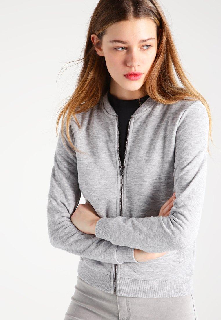 ONLY - ONLJOYCE - Mikina na zip - light grey melange