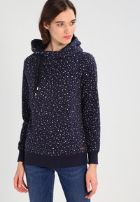 ONLY - ONLJALENE  HOOD - Hoodie - night sky/white dots - 0
