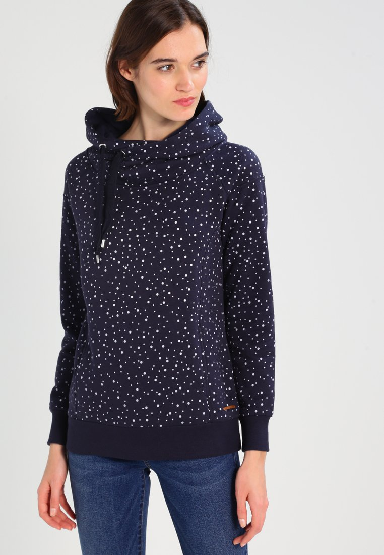 ONLY - ONLJALENE  HOOD - Hoodie - night sky/white dots