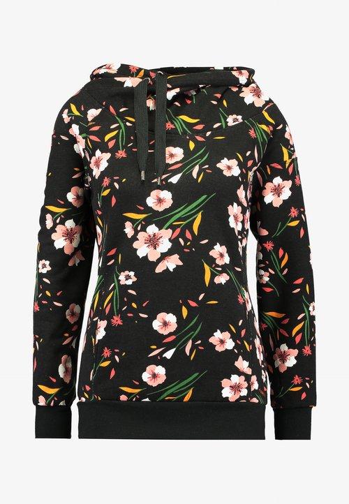tani ONLY ONLJALENE HOOD - Bluza z kapturem - black Odzież Damska YGMT-ZH6