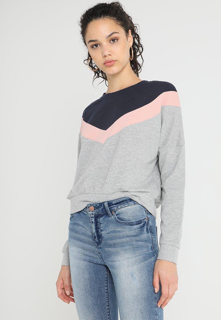 ONLY - ONLGIGI  - Sweatshirt - light grey melange/night sky