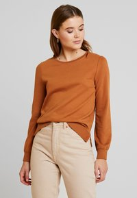 ONLY - CAITLIN SOUND  NECK SLIT - Sweatshirt - argan oil - 0