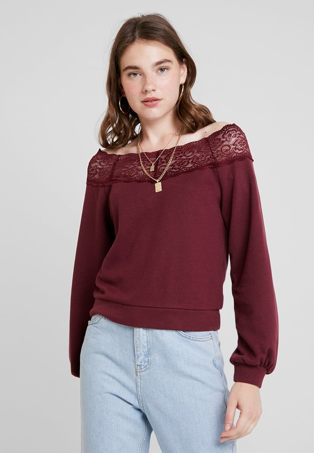 ONLMILA OFF SHOULDER - Sudadera - tawny port