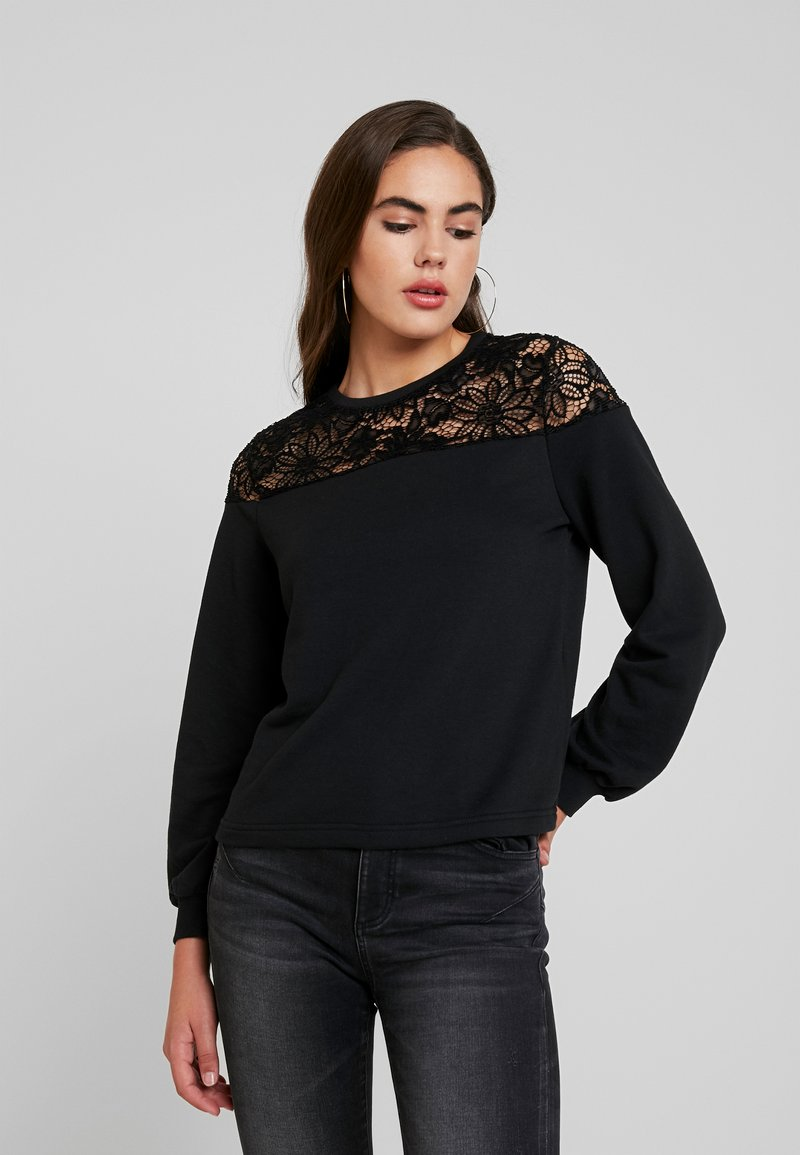 ONLY - ONLCATALINA O NECK PLAIN - Sweatshirt - black