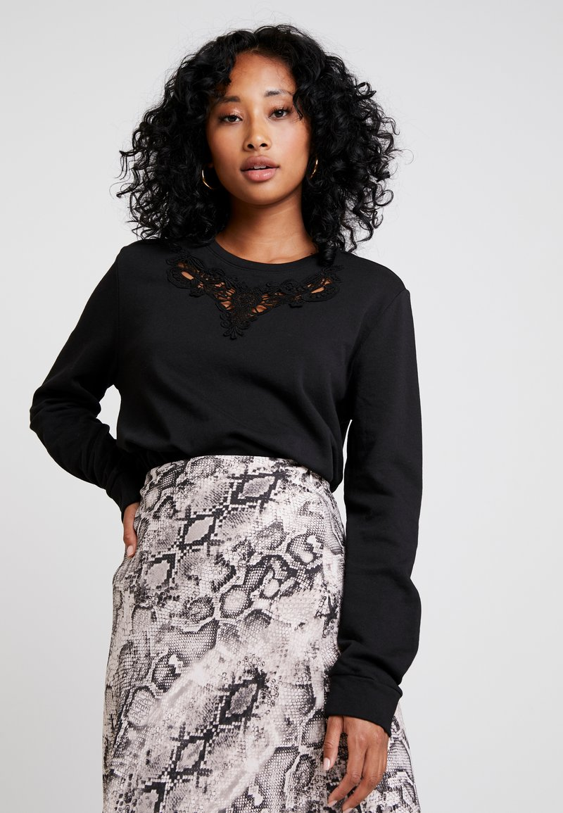 ONLY - ONLHAMBURG O-NECK - Sweatshirt - black