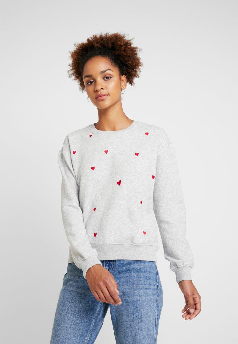 ONLY - ONLGINA LOVE BABY BOX  - Sweatshirt - light grey melange