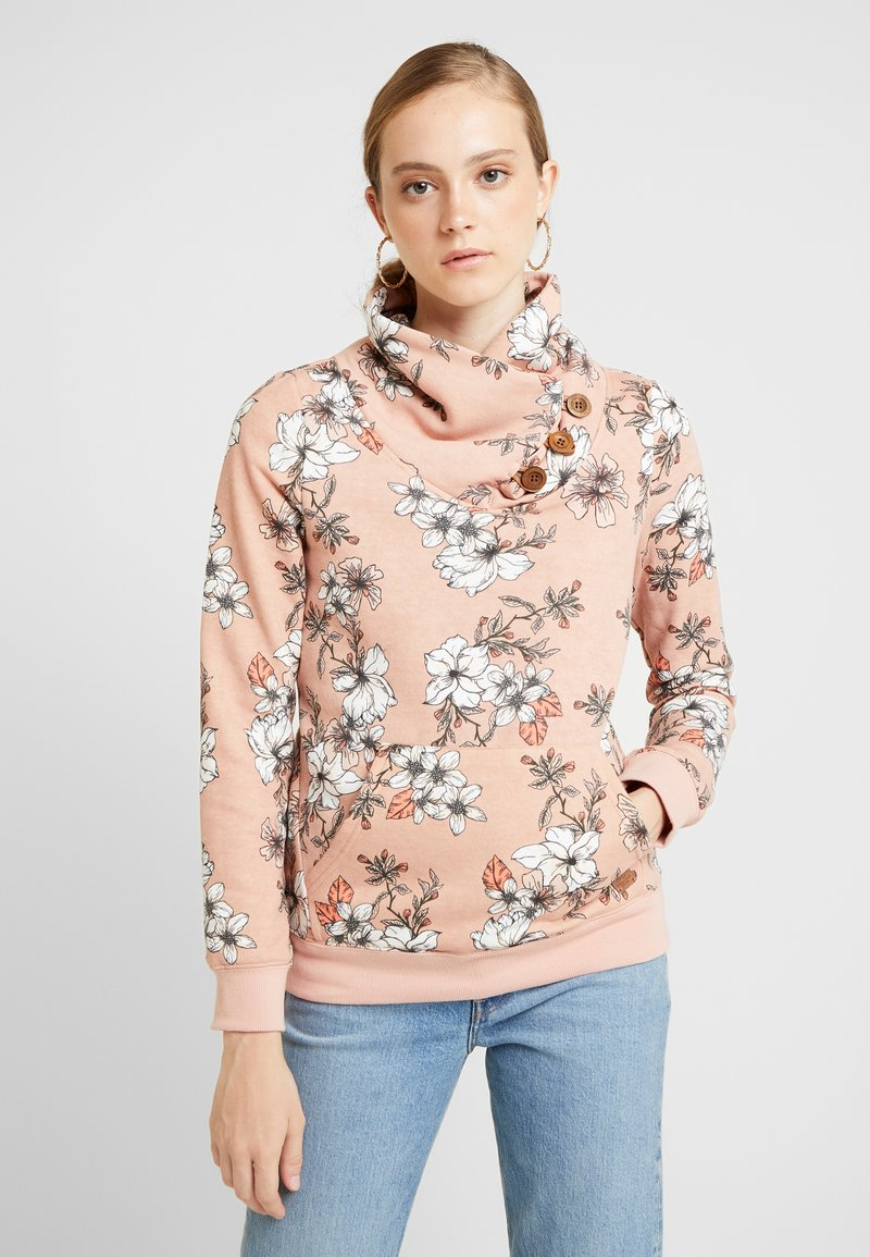 ONLY - ONLPIP NADINE HIGHNECK - Sweatshirt - cameo brown