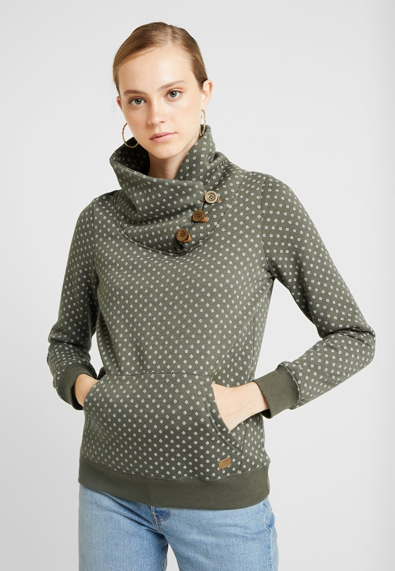 ONLY - ONLPIP NADINE HIGHNECK - Sweatshirts - tarmac