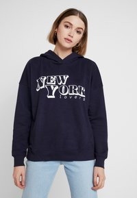 ONLY - ONYFRIDA O-NECK - Hoodie - night sky - 0