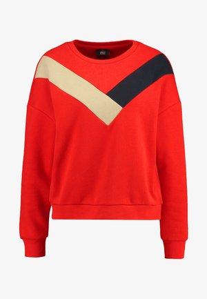 ONLDAKOTA O NECK - Sweatshirt - fiery red/night sky