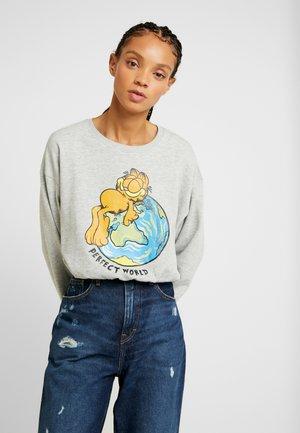 ONLFGARFIELD WORLD - Sweatshirts - light grey melange